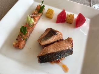 Roasted Salmon & Salmon Tartare